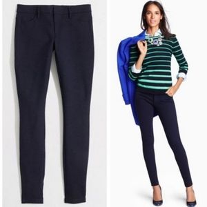 J CREW gigi navy ponte stretch pants 6 (J7)